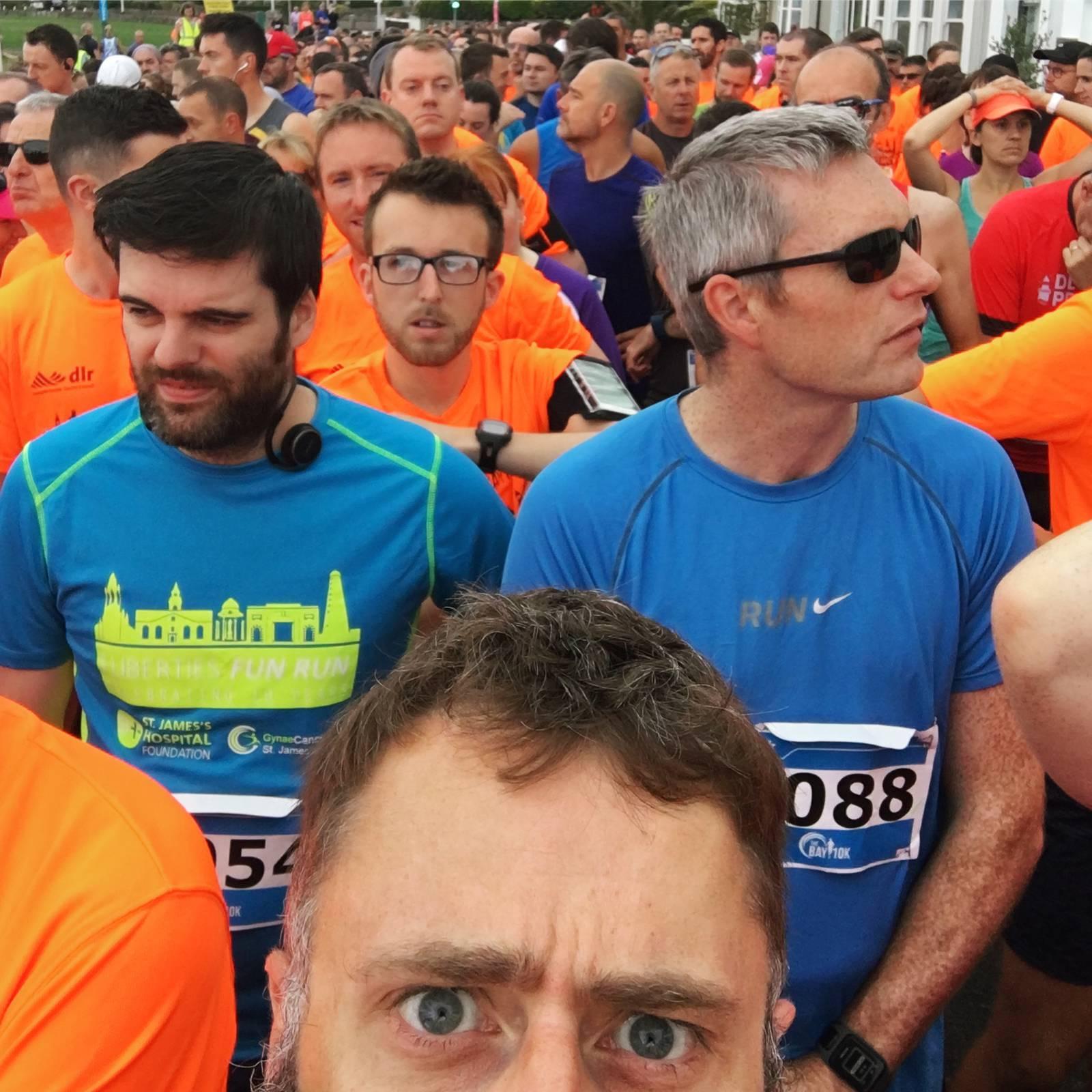 Anxious pre-race face