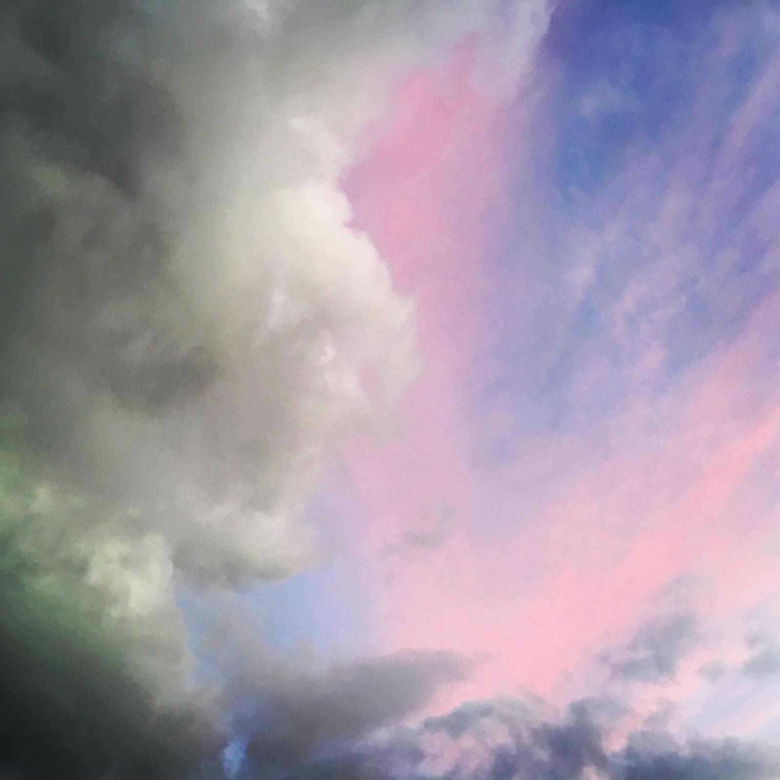Sunset-lit clouds over Harold's Cross, Dublin