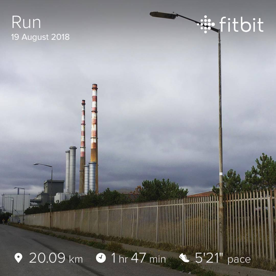 Fitbit running results for Poolbeg loop