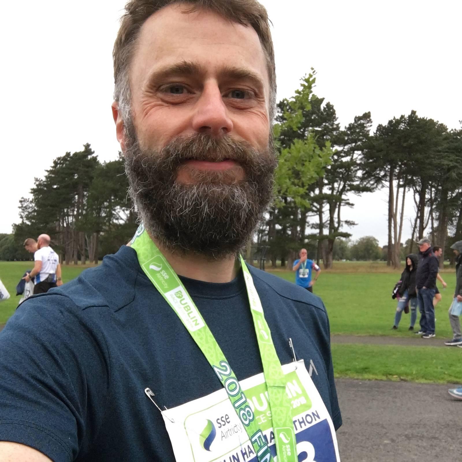Myself at the finish line