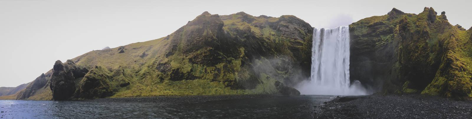 Skogafoss panoramic