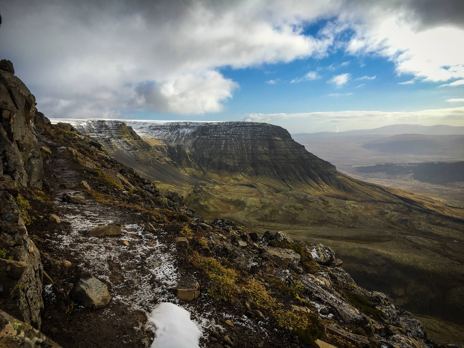 The view east from Þverfellshorn