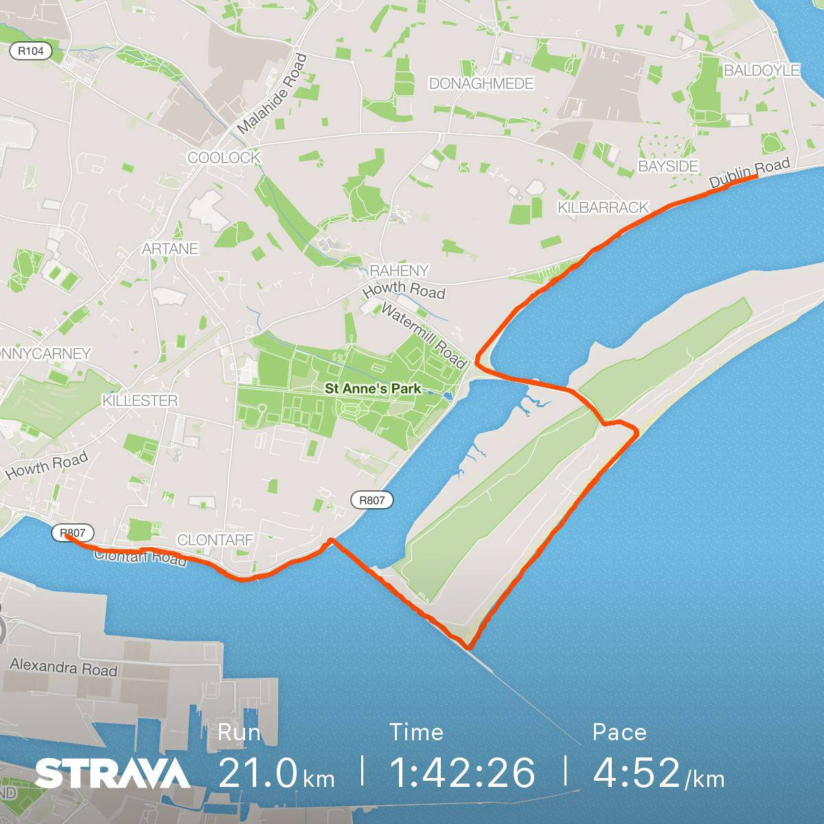 Run route on Strava