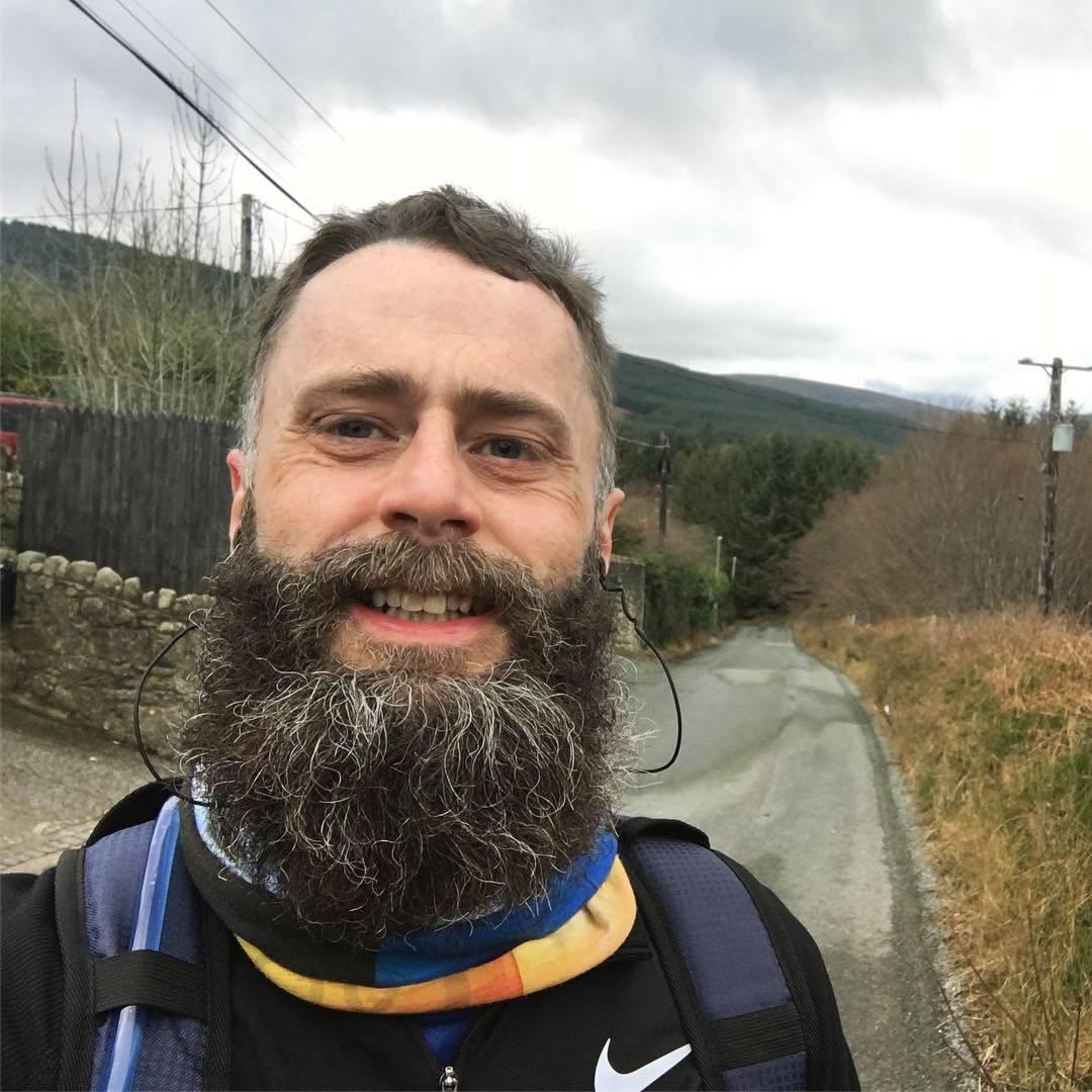 Me running outside Enniskerry