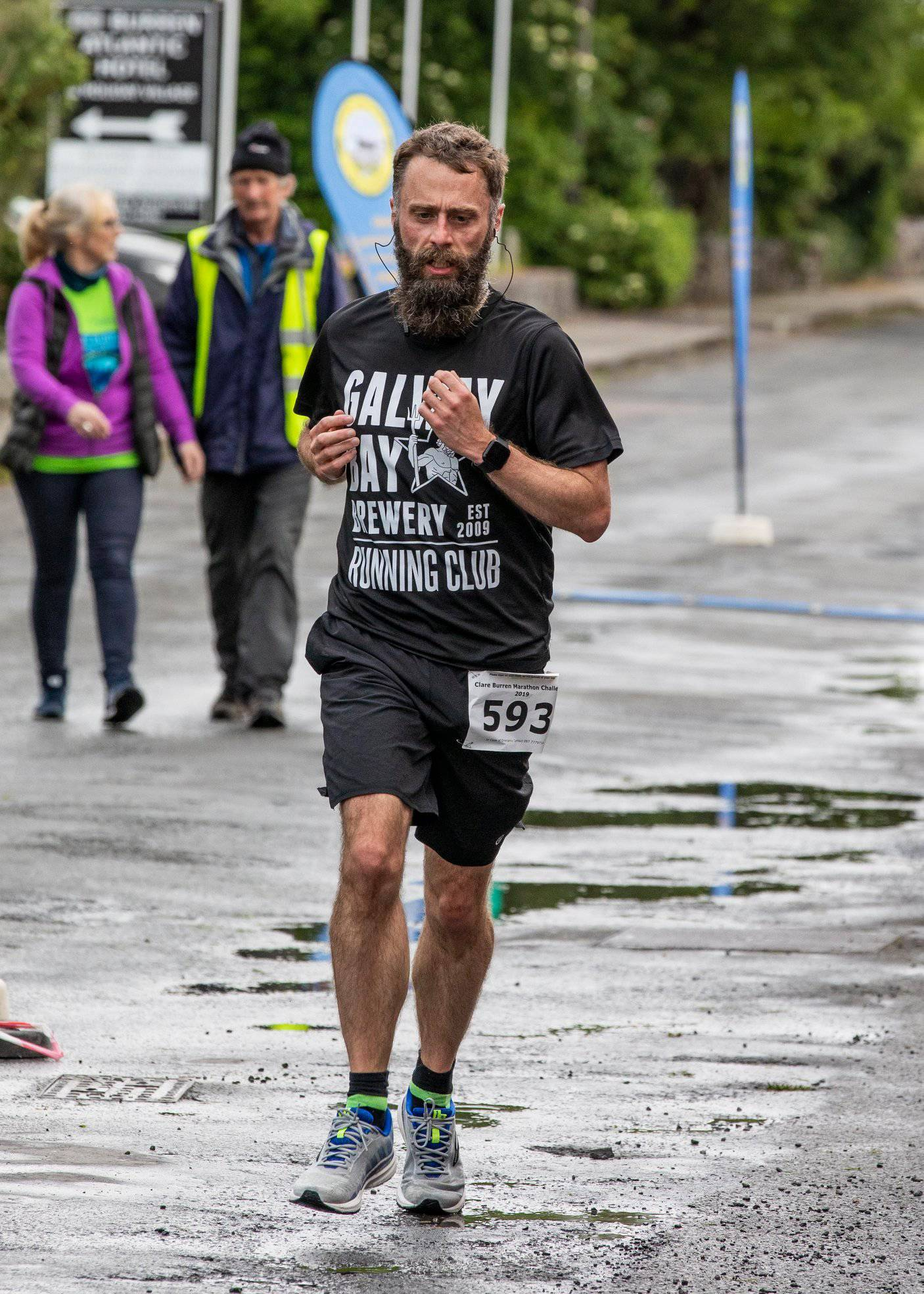 Me finishing seventh at the Clare Burren Marathon Challenge 2019 10k