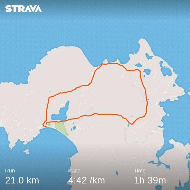 Achill half marathon race result