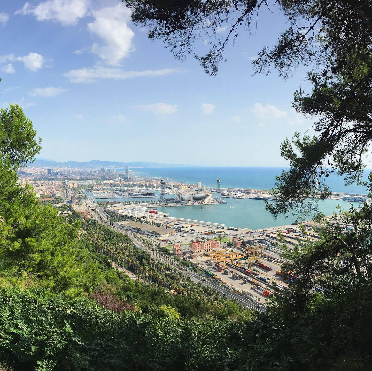 The port of Barcelona from Montjuïc
