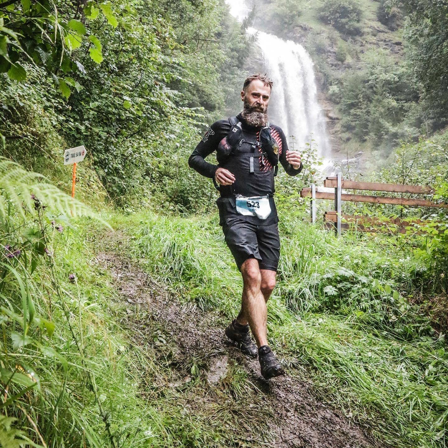 Me running in Klosters at the Madrisa T24 trail race