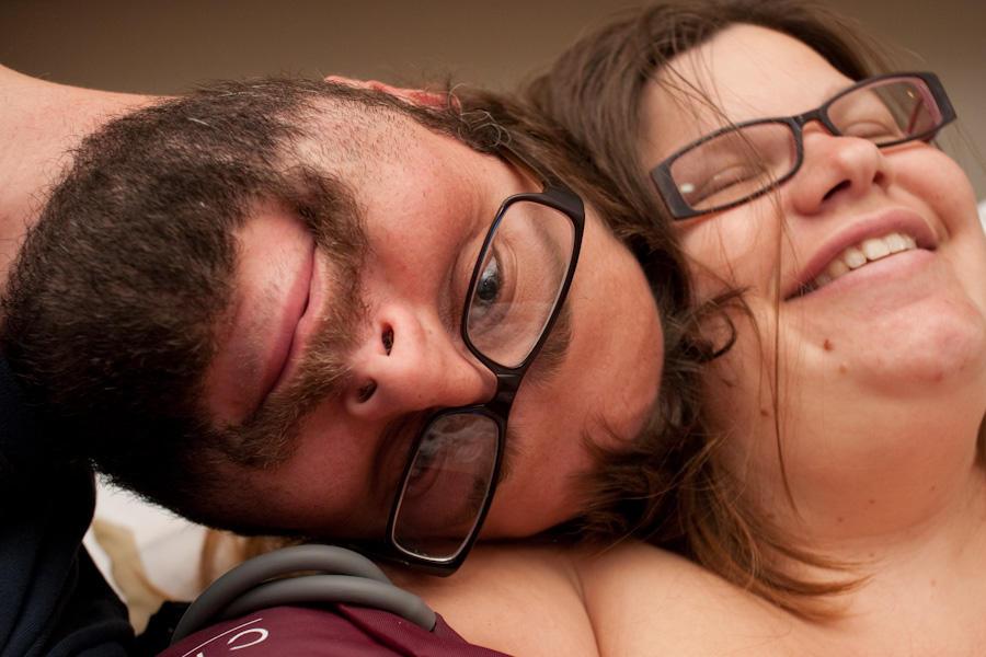 Mariah and I after Garrett's birth