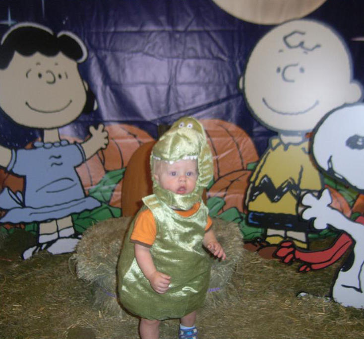 Garrett in his first Halloween costume