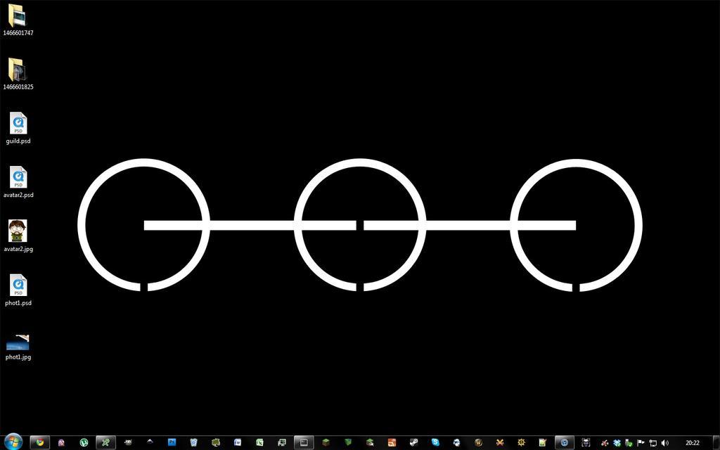 Windows 7 desktop with Dune wallpaper