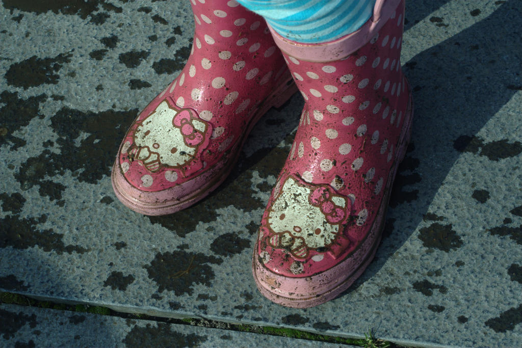 Caira's muddy boots in Claddagh