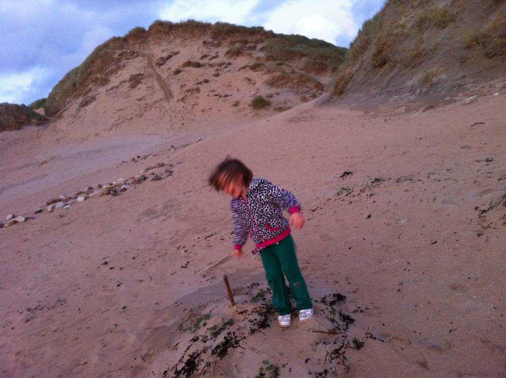 Caira on the beach at Cliffoney