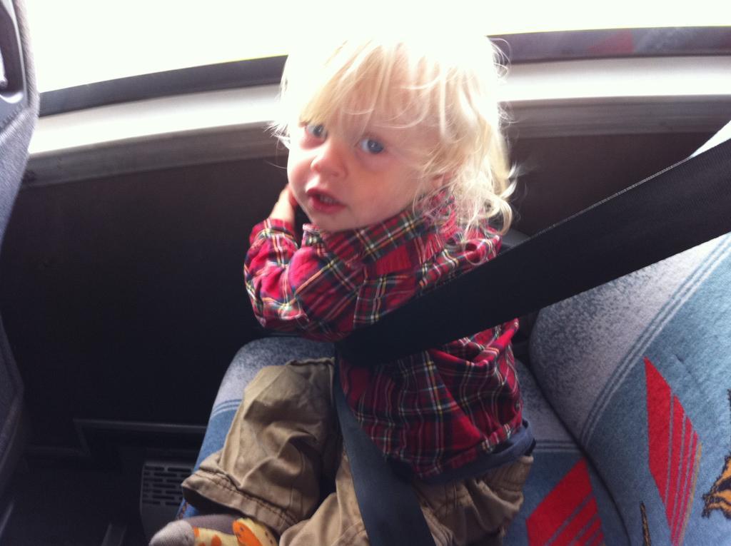 Garrett on the bus, going to Bundoran