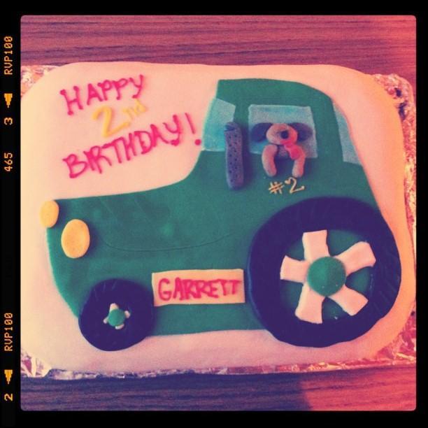 Garrett's birthday cake