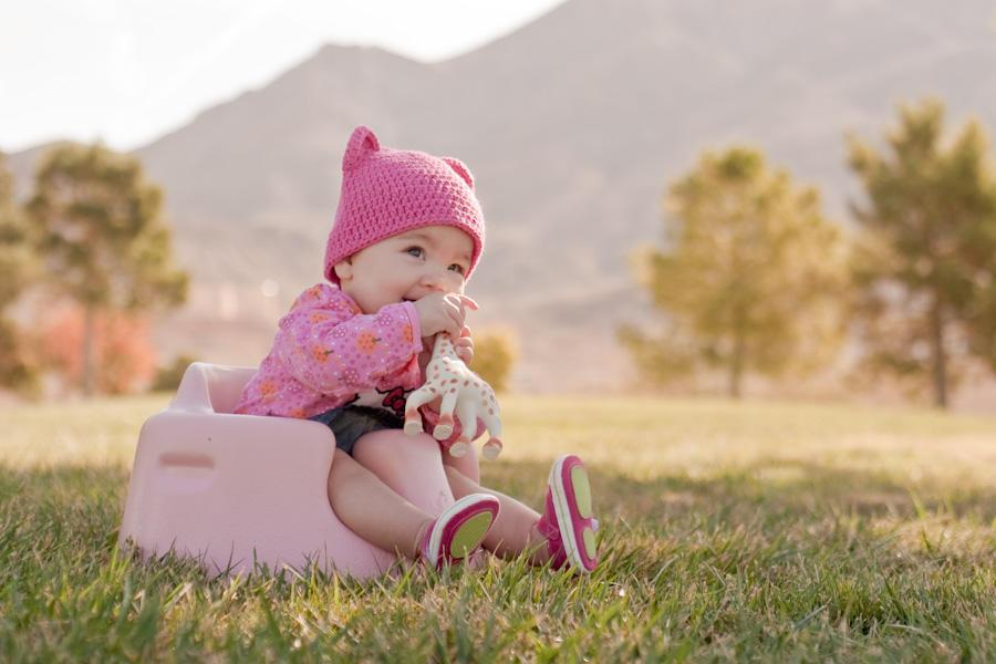 Emi in pink