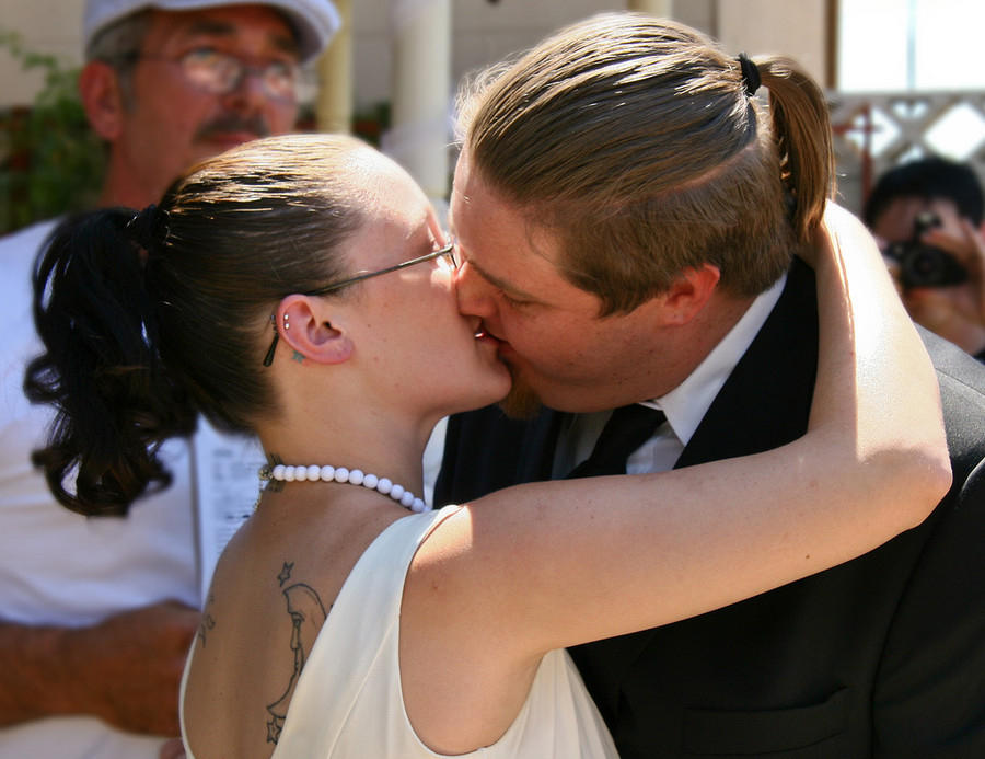 Jacob and Holli kiss