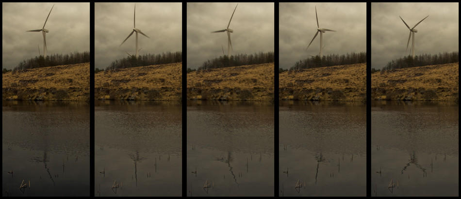 Day 75: Five views of one wind turbine