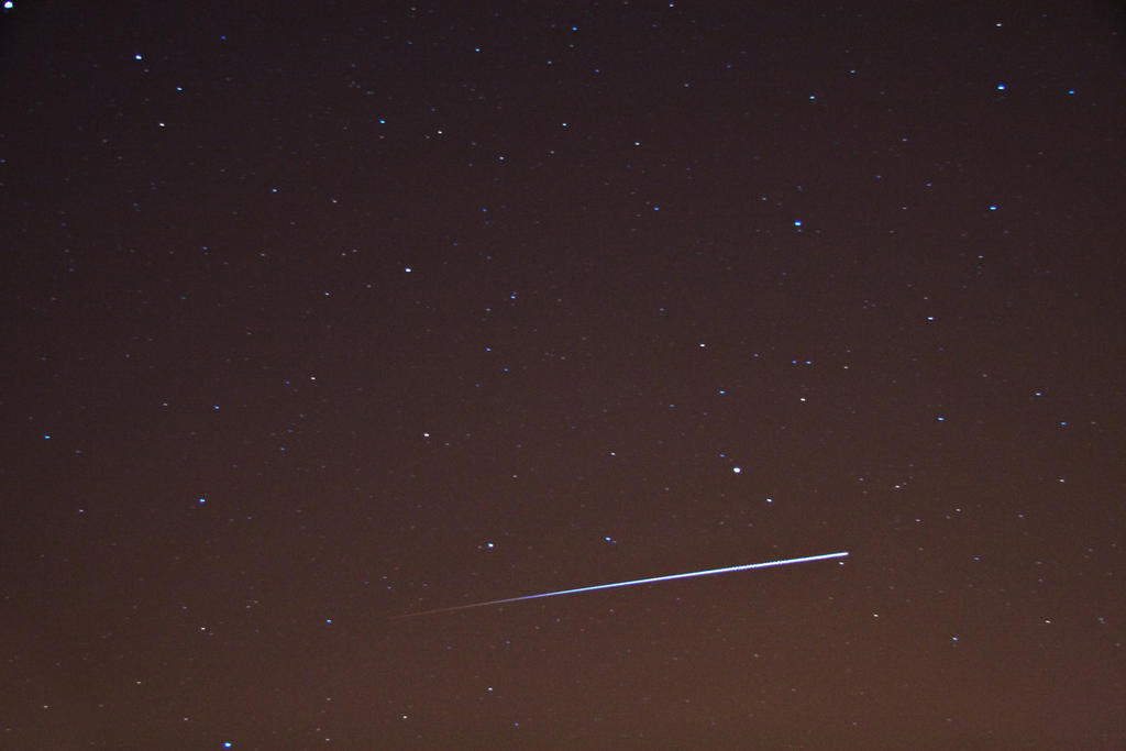 The ISS passing into Earth's penumbra