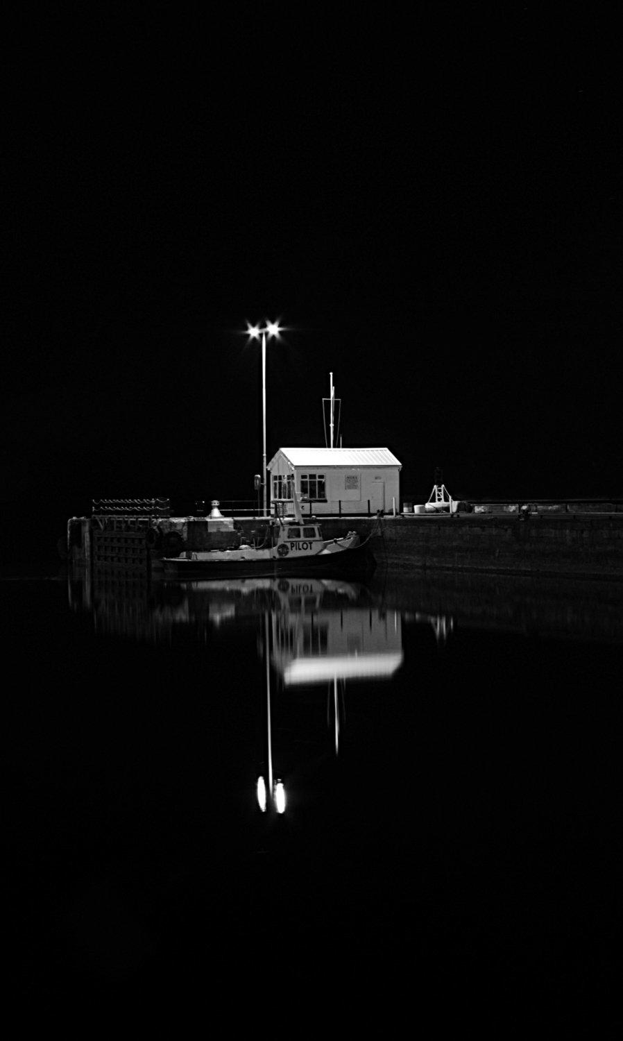 Galway docks at night
